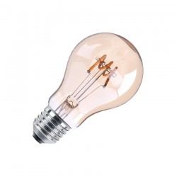 Ampoule LED E27 Dimmable Filament Spirale Or Classic A60 4W