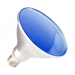 Ampoule E27 PAR38 15W IP65 Bleu
